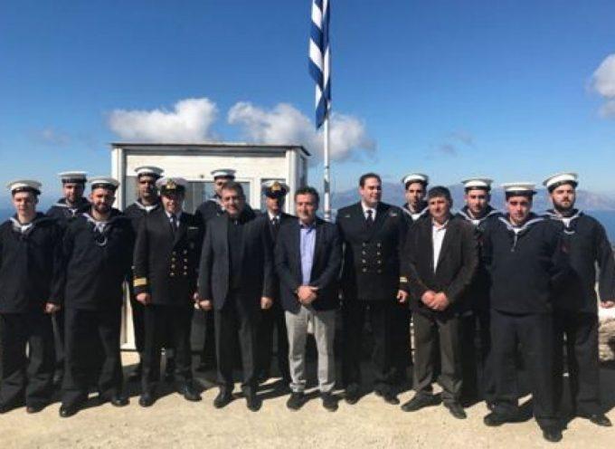 Επίσκεψη Γιάννη Βρούτση στη Ναυτική Βάση Άνδρου για τον εορτασμό των Αγ. Σαράντα
