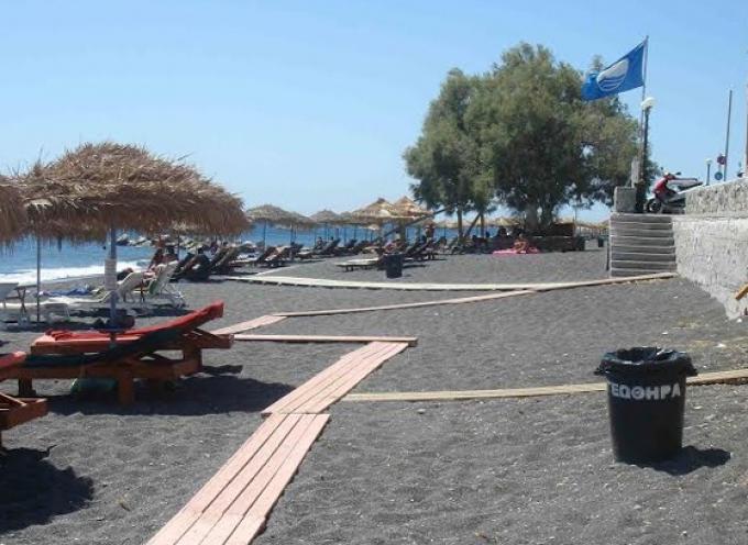 Δήμος Θήρας: Έξι γαλάζιες σημαίες φέτος στη Σαντορίνη
