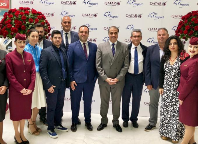 Στη Μύκονο ο Γ. Χατζημάρκος για την υποδοχή της πρώτης πτήσης της Qatar Airways