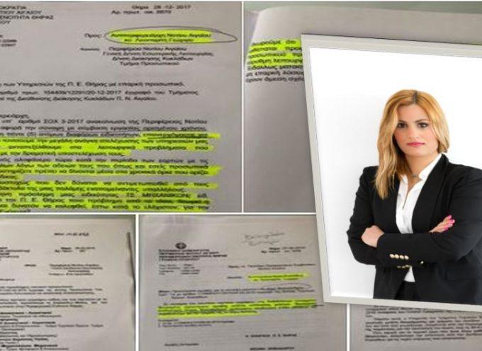Η πρώην Έπαρχος Θήρας δημοσιοποιεί τα έγγραφα που επικαλέστηκε