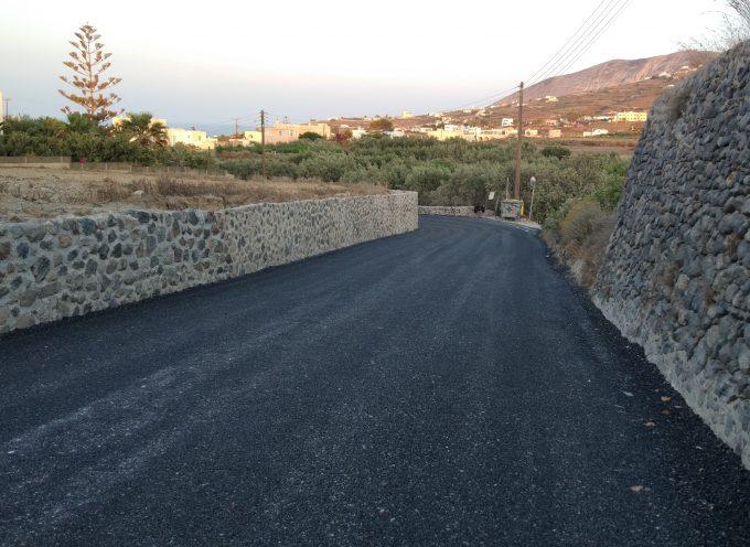 Δήμος Θήρας : Ασφαλτόστρωση Δημοτικών δρόμων