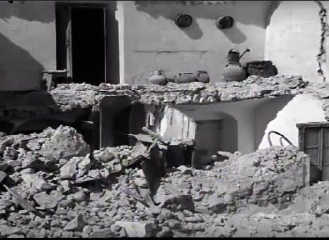 Ταινία επικαίρων με θέμα την περιοδεία του Πρωθυπουργού Κωνσταντίνου Καραμανλή στη σεισμόπληκτη Σαντορίνη, 14/7/1956