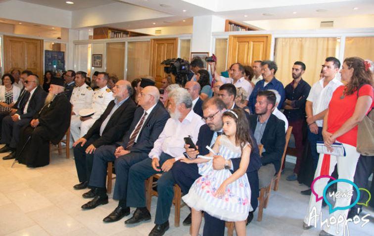 Αποτέλεσμα εικόνας για Οι βουλευτές Κυκλάδων του ΣΥΡΙΖΑ στην Αμοργό.