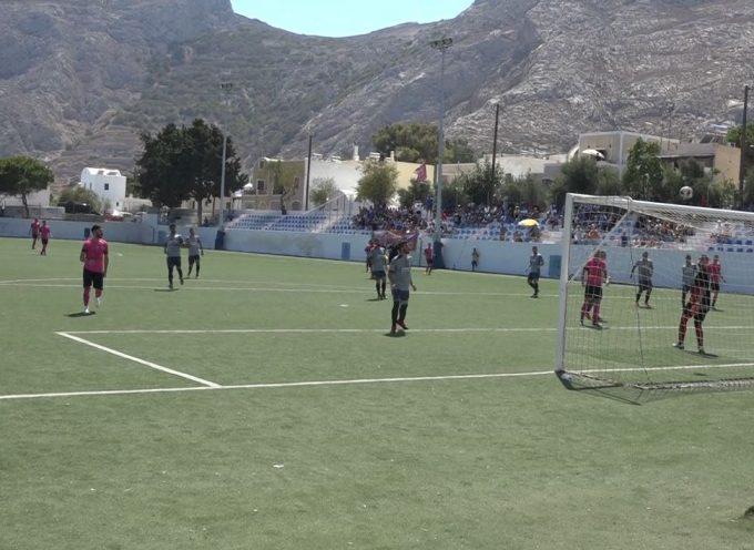 Μεγάλη νίκη επί της Κηφισιάς (2-0) και ιστορική πρόκριση της Θύελλας Καμαρίου Σαντορίνης
