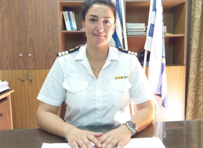 Η Πλωτάρχης Λ.Σ. ΚΟΡΑΚΑ Κωνσταντία ανέλαβε καθήκοντα Λιμενάρχη Θήρας