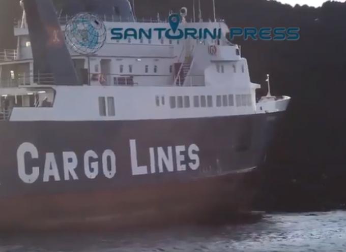 ΒΙΝΤΕΟ: Στη Νέα Καμένη προσάραξε το RR NEARCHOS