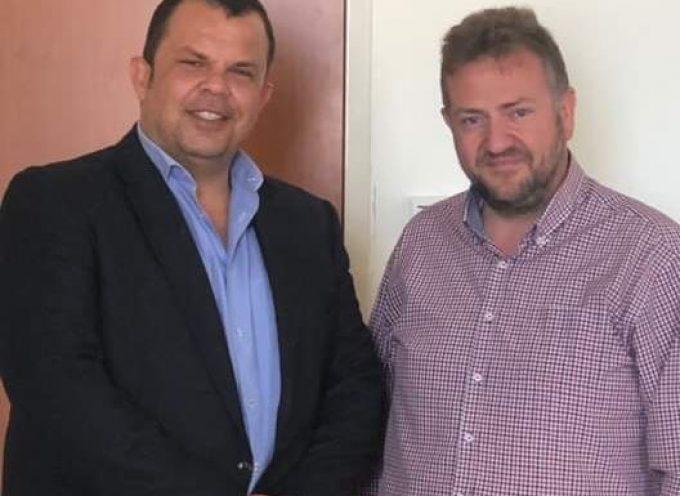 Με τον αντιπρόεδρο του Γ.Ν.Θ κ. Πανοτόπουλο συναντήθηκε ο Υποψήφιος Δήμαρχος Θήρας κ. Ορφανός