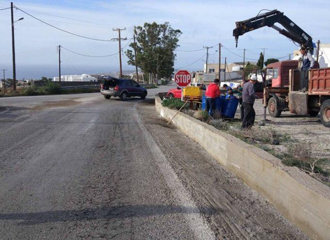 Εργασίες ασφαλτοστρώσεων ξεκίνησαν σήμερα το πρωί στην περιοχή από τον κόμβο του Αθηνιού και μέχρι το Μεξικάνικο