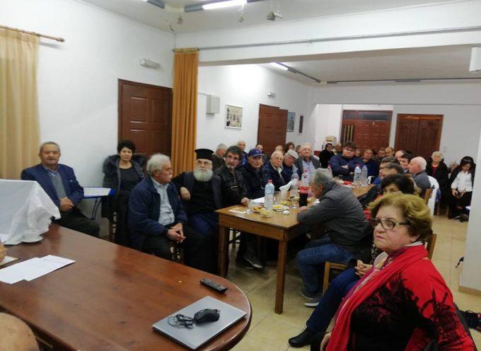 Πραγματοποιήθηκε χθες στην Αίθουσα Κοντοχωριανών, με ικανοποιητική συμμετοχή, η πρώτη ιδρυτική συνέλευση του νέου Πολιτιστικού Συλλόγου της Πρωτεύουσας του νησιού.