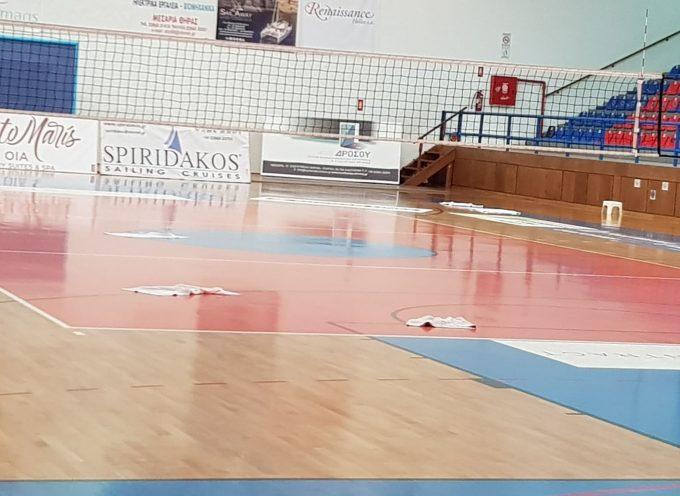 Η Περιφέρεια επισκευάζει το Κλειστό Γυμναστήριο Σαντορίνης