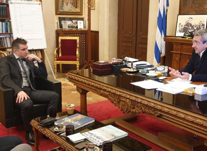 Αθλητισμός και Παιδεία, στην ατζέντα της συνάντησης του Περιφερειάρχη Γιώργου Χατζημάρκου με τον Ευρωβουλευτή Θοδωρή Ζαγοράκη