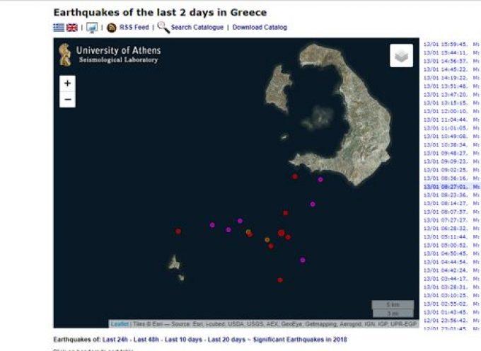 Ο Κώστας Παπαζάχος για τη σεισμική δραστηριότητα νότια της Σαντορίνης