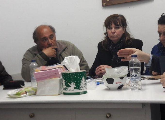 Συνάντηση Μανόλη Ορφανού με τα μέλη του Δ.Σ. του Πολιτιστικού Συλλόγου Καρτεράδου «Η Γλυκογαλούσα»