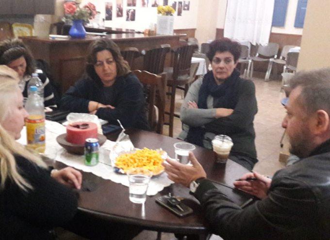 Με μέλη του Δ.Σ. του Πολιτιστικού Συλλόγου Θήρας συναντήθηκε ο Μ. Ορφανός