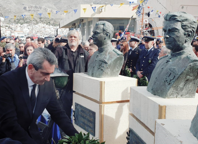 Στεφάνι στον υγρό τάφο των τριών πεσόντων ηρώων στα Ίμια, έριξε ο Περιφερειάρχης, Γιώργος Χατζημάρκος