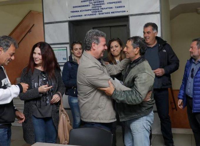 Επίσκεψη του υποψήφιου περιφερειάρχη Νοτίου Αιγαίου Μανώλη Γλυνού στη ΔΕΥΑΡ