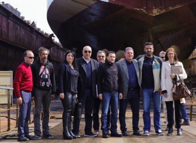 Περιοδεία του υποψήφιου Περιφερειάρχη Μανώλη Γλυνού στη Σύρο