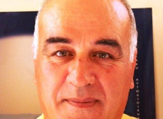 Υποψήφιος με τον Μανώλη Γλυνό ο Δημήτρης Γρυπάρης από την Σύρο