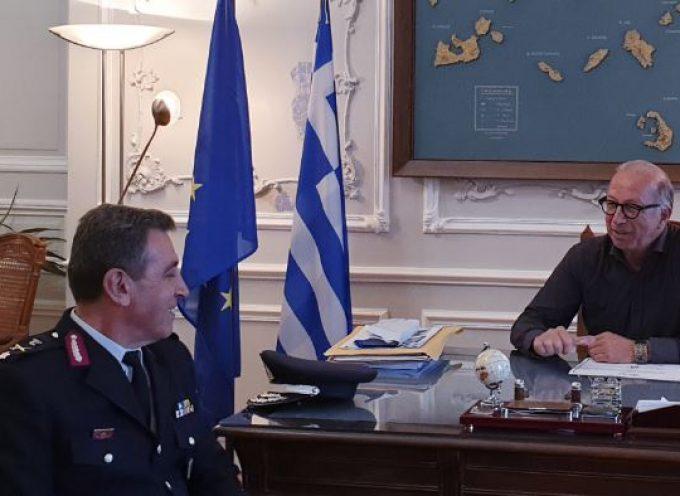 Με τον νέο Γενικό Περιφερειακό Αστυνομικό Διευθυντή Νοτίου Αιγαίου συναντήθηκε ο Γ. Λεονταρίτης