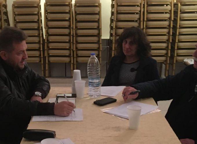 Συνάντηση του Δημοτικού συμβούλου και υποψηφίου Δημάρχου Θήρας Μανόλη Ορφανού στον Πολιτιστικό Σύλλογο «Εστία» Πύργου