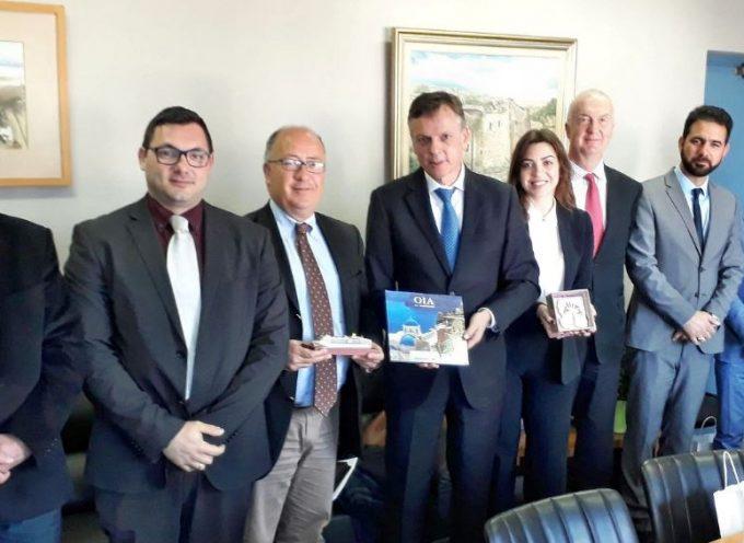 Με τον Πρόεδρο της CLIA (Cruise Lines International Association) συναντήθηκε ο Δήμαρχος Θήρας