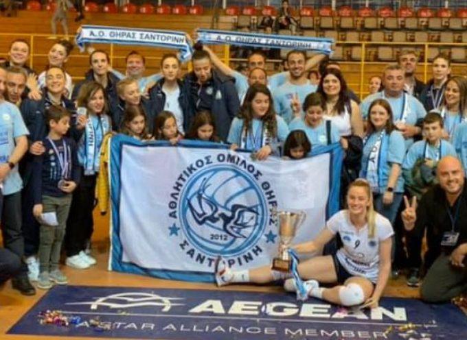 Μας έκανε για μια άλλη μια φορά υπερήφανους , δεύτερη καλύτερη ομάδα στην Ελλάδα ο ΑΟ ΘΗΡΑΣ