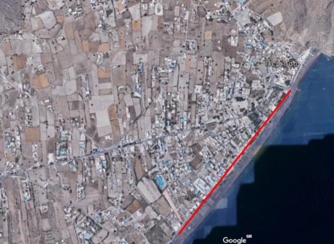 Δήμος Θήρας: Πεζοδρομείται τμήμα του παραλιακού δρόμου της Περίσσας