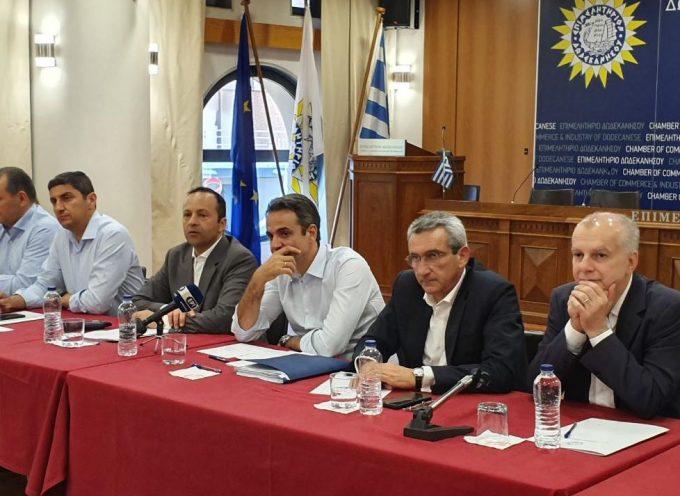 Συμβολική η έναρξη του προεκλογικού αγώνα του Κυριάκου Μητσοτάκη από τα Δωδεκάνησα