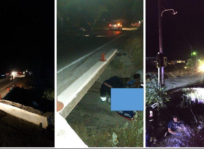 Καταγγελία: Τροχαία ατυχήματα στο δρόμο προς  Περίσσα εξ αιτίας της έλλειψης φωτισμού