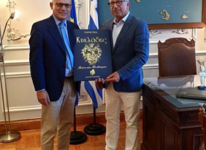 Mε τον Πρέσβη της Ιταλίας στην Ελλάδα συναντήθηκε ο Γ. Λεονταρίτης