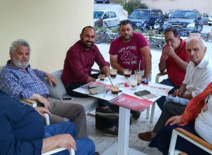 Στην Κέα βρέθηκαν την Κυριακή Γάκης, Μανιός και Συρμαλένιος
