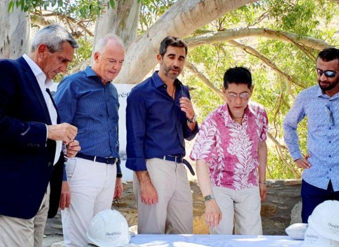 Στην Κέα ο Περιφερειάρχης Ν. Αιγαίου Γιώργος Χατζημάρκος για τον θεμέλιο λίθο της επένδυσης από την Dolphin Capital και την Kerzner International