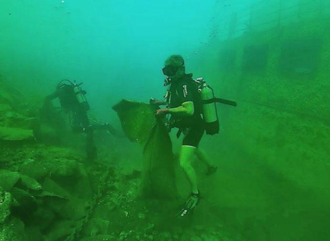 Χρήσιμες καταγραφές από τον υποβρύχιο καθαρισμό στον Ταξιάρχη
