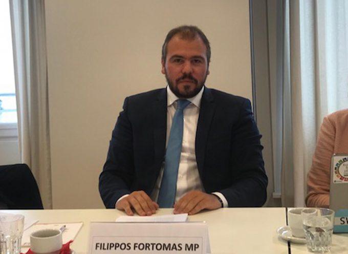 """Απεσταλμένος της Βουλής στις Βρυξέλλες ο Φίλιππος Φόρτωμας. """"Στρατηγικές για την προώθηση της διάστασης του φύλου στο σχεδιασμό και την υλοποίηση προγραμμάτων κοινοβουλευτικής συνεργασίας"""""""""""