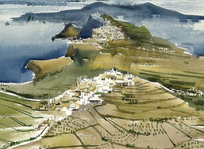 Μια απίθανη συλλογή βασισμένη στο τοπίο της Σαντορίνης στο Μουσείο Μπενάκη