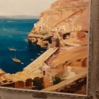 «Μάγεψε» το τοπίο της Σαντορίνης στο μουσείο Μπενάκη (photos)