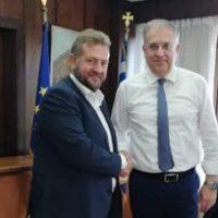 Mε τον Υπουργό Εσωτερικών Τάκη Θεοδωρικάκο συναντήθηκε ο Πρόεδρος της Δ.Ε.Υ.Α.Θ. Μανόλης Ορφανός