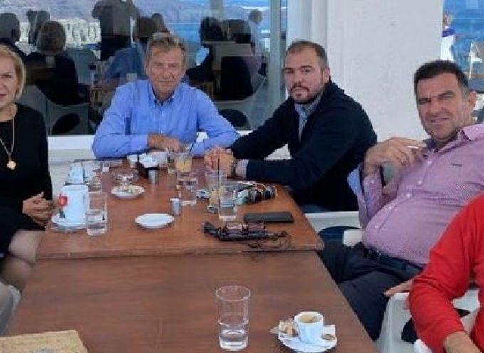 Σαντορίνη και Τήνο επισκέφτηκε ο Βουλευτής Κυκλάδων ΝΔ Φίλιππος Φόρτωμας