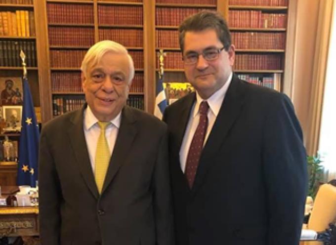 Με τον Πρόεδρο της Ελληνικής Δημοκρατίας Π. Παυλόπουλο συναντήθηκε ο Χ. Κόκκινος