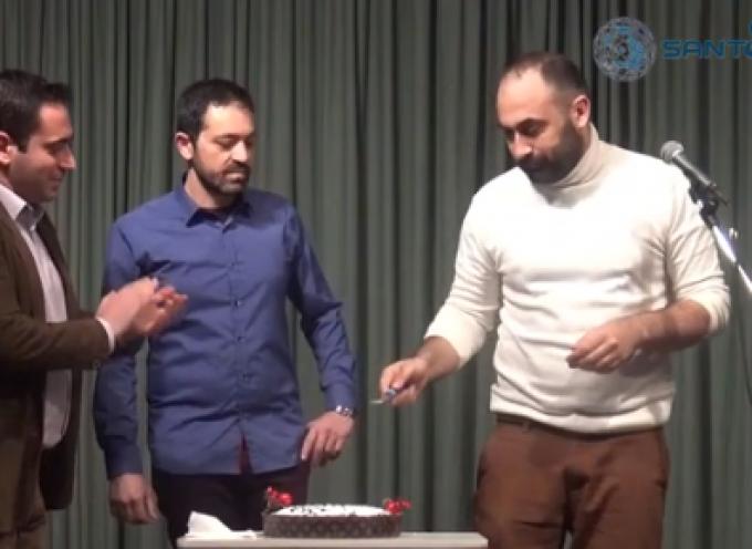 "VIDEO: Η κοπή της πρωτοχρονιάτικης πίτας της ""Θεατρικής ομάδας Θήρας"""