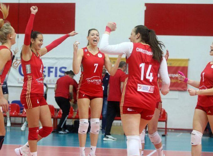 VL Γυναικών (19η αγωνιστική): Ολυμπιακός Σ.Φ.Π. – Α.Ο. Θήρας 3-1