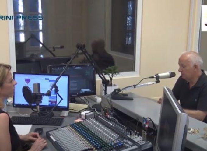 VIDEO: Ο Έπαρχος Θήρας κ. Χ. Δαρζέντας στο RADIO FAROS SANTORINI 105.9