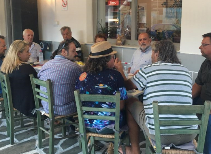 Με φορείς της Μήλου συναντήθηκε ο βουλευτής Κυκλάδων του ΣΥΡΙΖΑ Ν. Συρμαλένιος