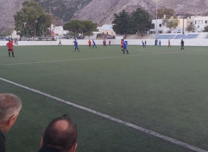 Φιλικό παιχνίδι, το πρώτο για την Α.Σ. Σαντορίνης 2020 στο γήπεδο του Καμαρίου με τον Α.Ο. Καρτεράδου