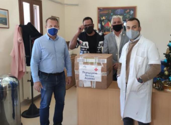 Παράδοση διαγνωστικών τεστ αντιγόνου από την Περιφέρεια Νοτίου Αιγαίου στο Καστελλόριζο