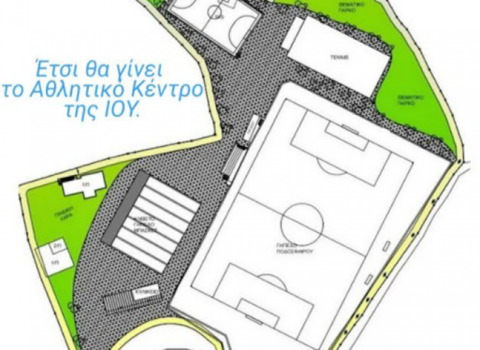 Ο Γιώργος Λεονταρίτης για την ανακατασκευή του Αθλητικού Κέντρου Ίου