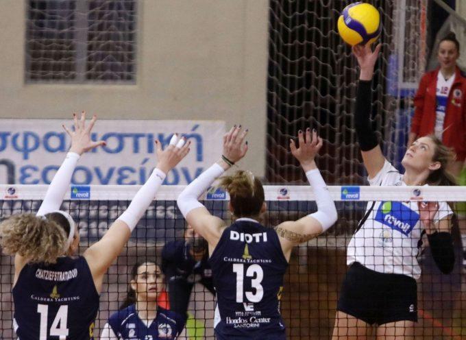 Volley League Γυναικών (10η αγωνιστική): Α.Ο. Μαρκοπούλου Revoil – Α.Ο. Θήρας 3-0