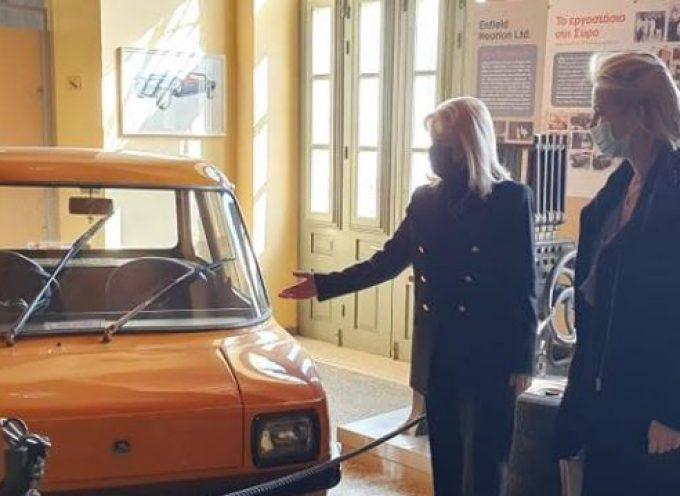 Το Βιομηχανικό Μουσείο Ερμούπολης επισκέφτηκε η Βουλευτής Κυκλάδων Κατερίνα Μονογυιού