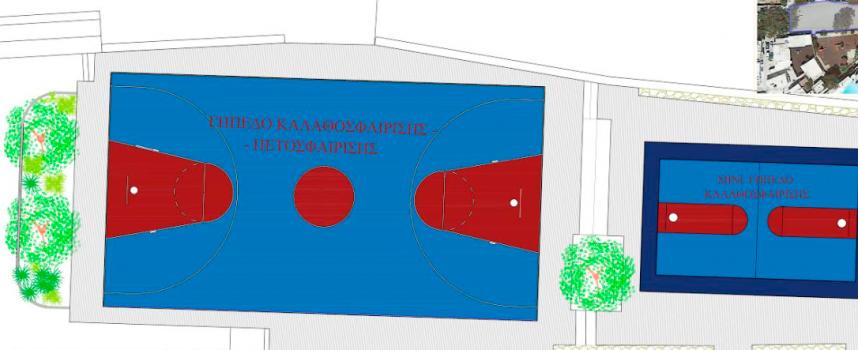 """Περιφέρεια Νοτίου Αιγαίου: Αναλαμβάνει την πλήρη επισκευή του γηπέδου μπάσκετ – βόλεϊ στην περιοχή """"Λάκκα"""" της Μυκόνου"""