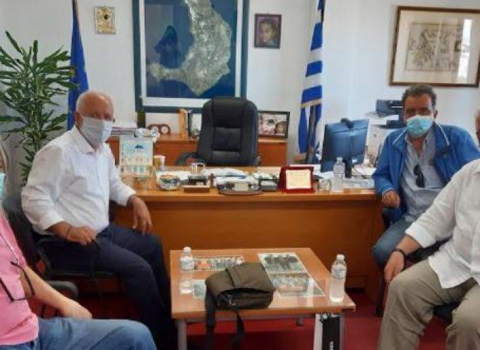 Συνάντηση Χ. Δαρζέντα με Θ. Γεωργόπουλο, Γ. Μπόλλα και Χ. Δεναξά